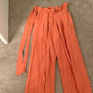 Urban Outfitters Wide Leg Canvas Pant with Wrap